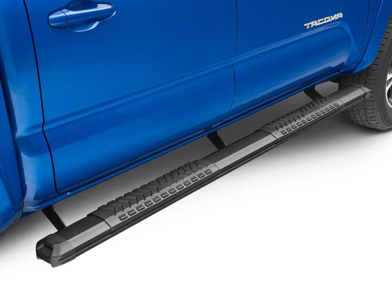 Steel Craft STX400 Aluminum Step Boards - Black (05-19 Tacoma Double Cab)