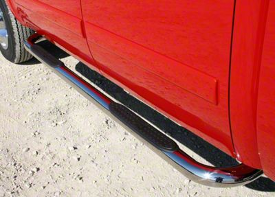 Iron Cross 3 in. Side Step Bars - Stainless Steel (05-19 Tacoma Double Cab)
