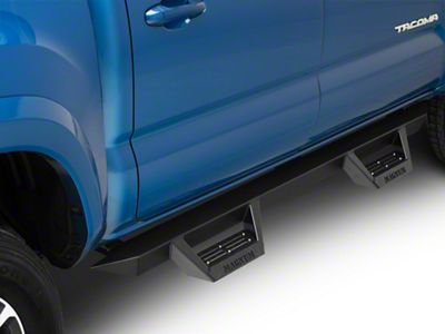 ICI Magnum RT Cab Length Side Step Bars - Black (05-19 Tacoma Double Cab)
