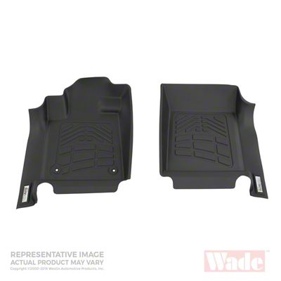 Wade Sure-Fit Front Floor Liners - Black (05-11 Tacoma)