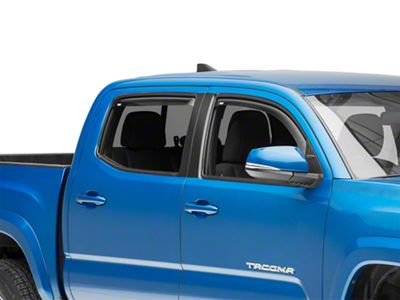Wade In-Channel Wind Deflectors - Smoked (16-19 Tacoma Double Cab)