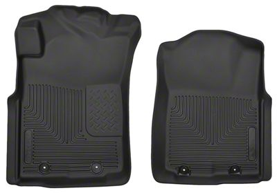 Husky X-Act Contour Front Floor Liners - Black (05-11 Tacoma)