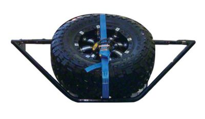 N-Fab Sliding Channel Tire Carrier - Textured Black (05-11 Tacoma)
