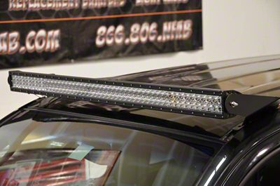 N-Fab 49 Series LED Light Bar Roof Top Light Bar Mount - Textured Black (05-15 Tacoma)