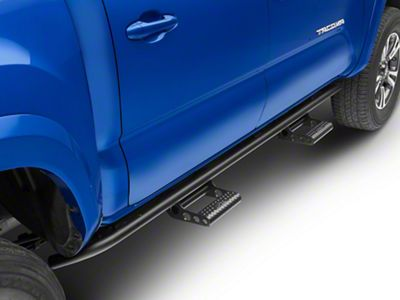 N-Fab Cab Length RKR Side Rails w/ Detachable Steps - Textured Black (16-19 Tacoma Double Cab)