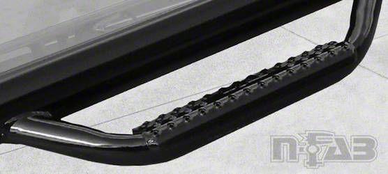 N-Fab Wheel 2 Wheel Nerf Side Step Bars - Gloss Black (16-19 Tacoma Double Cab)