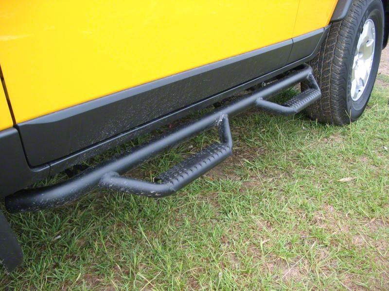 N-Fab Wheel 2 Wheel Nerf Side Step Bars - Textured Black (16-19 Tacoma Access Cab)