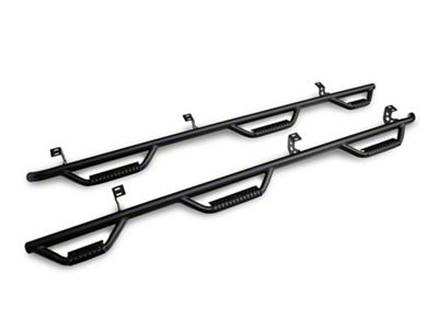 N-Fab Wheel 2 Wheel Bed Access Nerf Side Step Bars - Textured Black (16-19 Tacoma Double Cab w/ 6 ft. Bed)