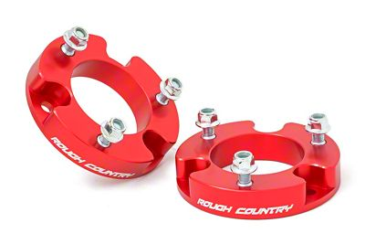 Rough Country 2 in. Leveling Kit - Anodized Red (05-19 6-Lug Tacoma)