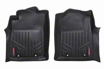 Rough Country Heavy Duty Front Floor Mats - Black (12-15 Tacoma)