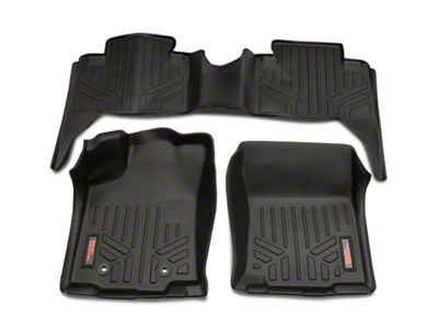 Rough Country Heavy Duty Front & Rear Floor Mats - Black (16-19 Tacoma Double Cab)