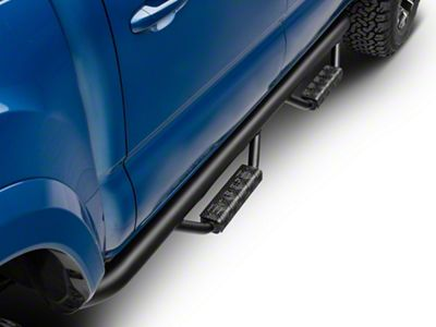 RBP RX-7 Wheel to Wheel Side Step Bars - Black (05-19 Tacoma Double Cab)