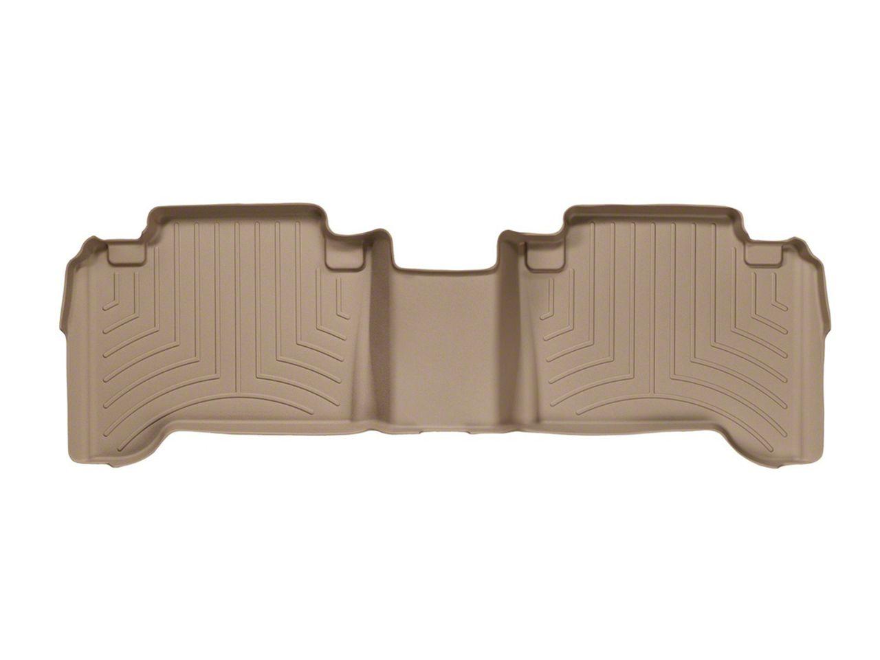 Weathertech DigitalFit Rear Floor Liner - Tan (05-15 Tacoma Double Cab)