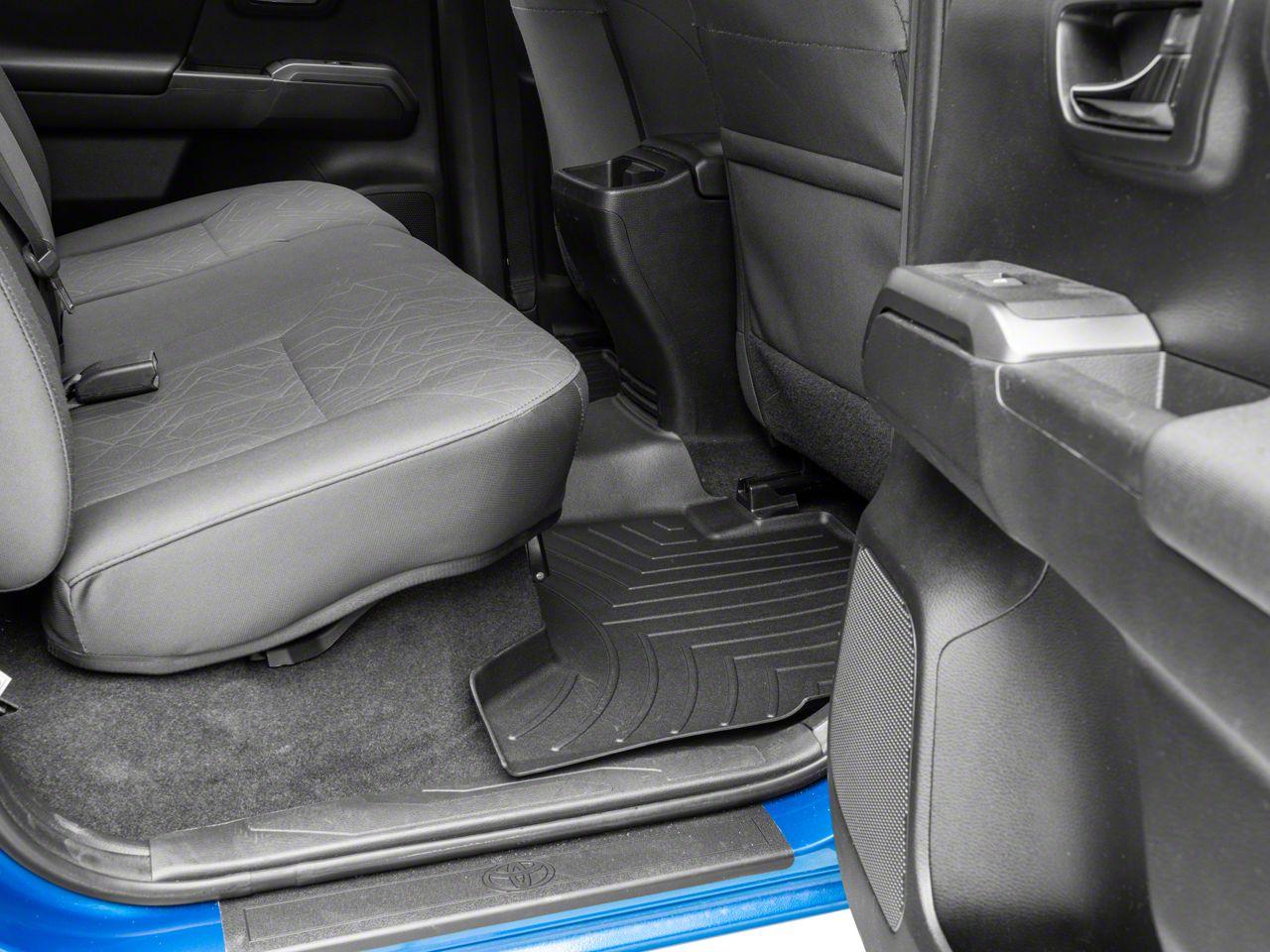 Weathertech DigitalFit Rear Floor Liner - Black (16-19 Tacoma Double Cab)