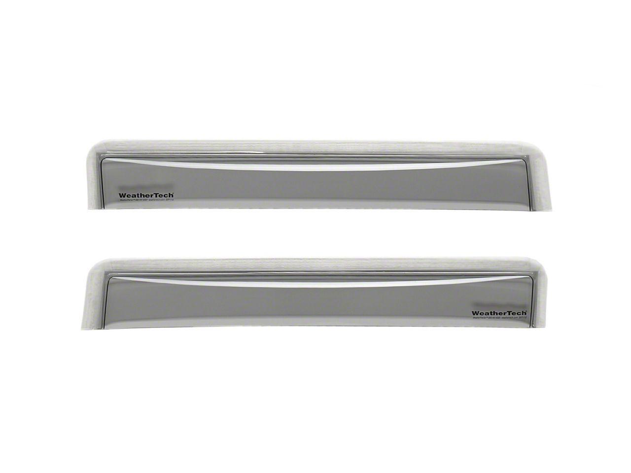 Weathertech Rear Side Window Deflectors - Light Smoke (16-19 Tacoma Double Cab)