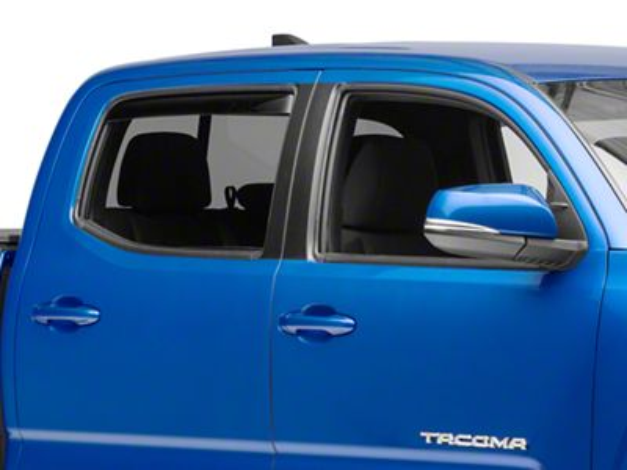 Weathertech Rear Side Window Deflectors - Dark Smoke (16-19 Tacoma Double Cab)