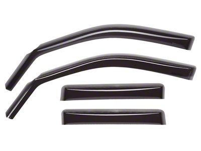 Weathertech Front & Rear Side Window Deflectors - Dark Smoke (05-15 Tacoma Access Cab)