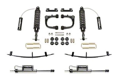 Fabtech 3 in. Uniball Upper Control Arm Lift System w/ Dirt Logic Reservoir Coilovers, Reservoir Shocks & Leaf Springs (05-14 6-Lug Tacoma)