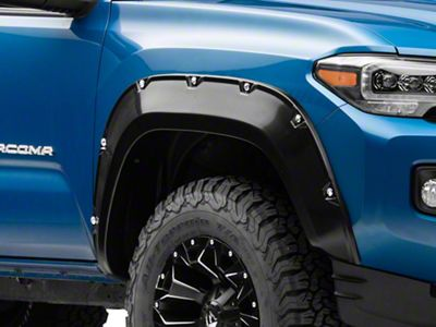 Black Horse Off Road Recessed Bolt Fender Flares - Matte Black (16-19 Tacoma)