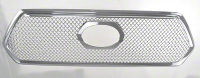 Black Horse Off Road Mesh Upper Overlay Grille - Chrome (16-17 Tacoma)