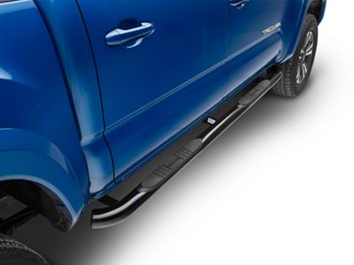 Black Horse Off Road 3 in. Round Side Step Bars - Black (05-19 Tacoma Double Cab)