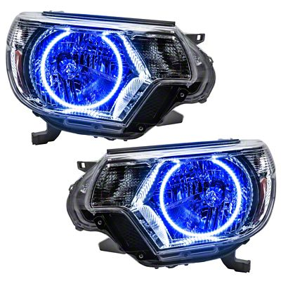 Oracle Chrome OE Style Headlights w/ Plasma Halos (12-15 Tacoma)