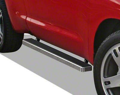 APS Auto 4 in. iStep Running Boards - Hairline Silver (05-14 Tacoma Regular Cab)