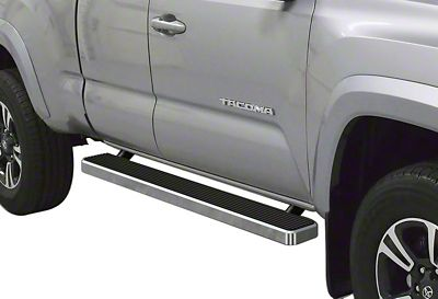 APS Auto 5 in. iStep Running Boards - Hairline Silver (05-19 Tacoma Access Cab)