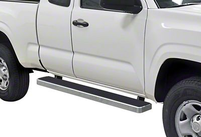 APS Auto 6 in. iStep Running Boards - Hairline Silver (05-19 Tacoma Access Cab)