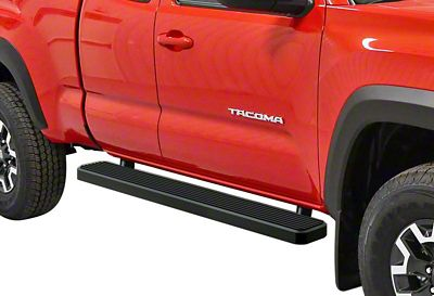 APS Auto 6 in. iStep Running Boards - Black (05-19 Tacoma Access Cab)