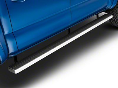 APS Auto 6 in. iStep Running Boards - Hairline Silver (05-19 Tacoma Double Cab)