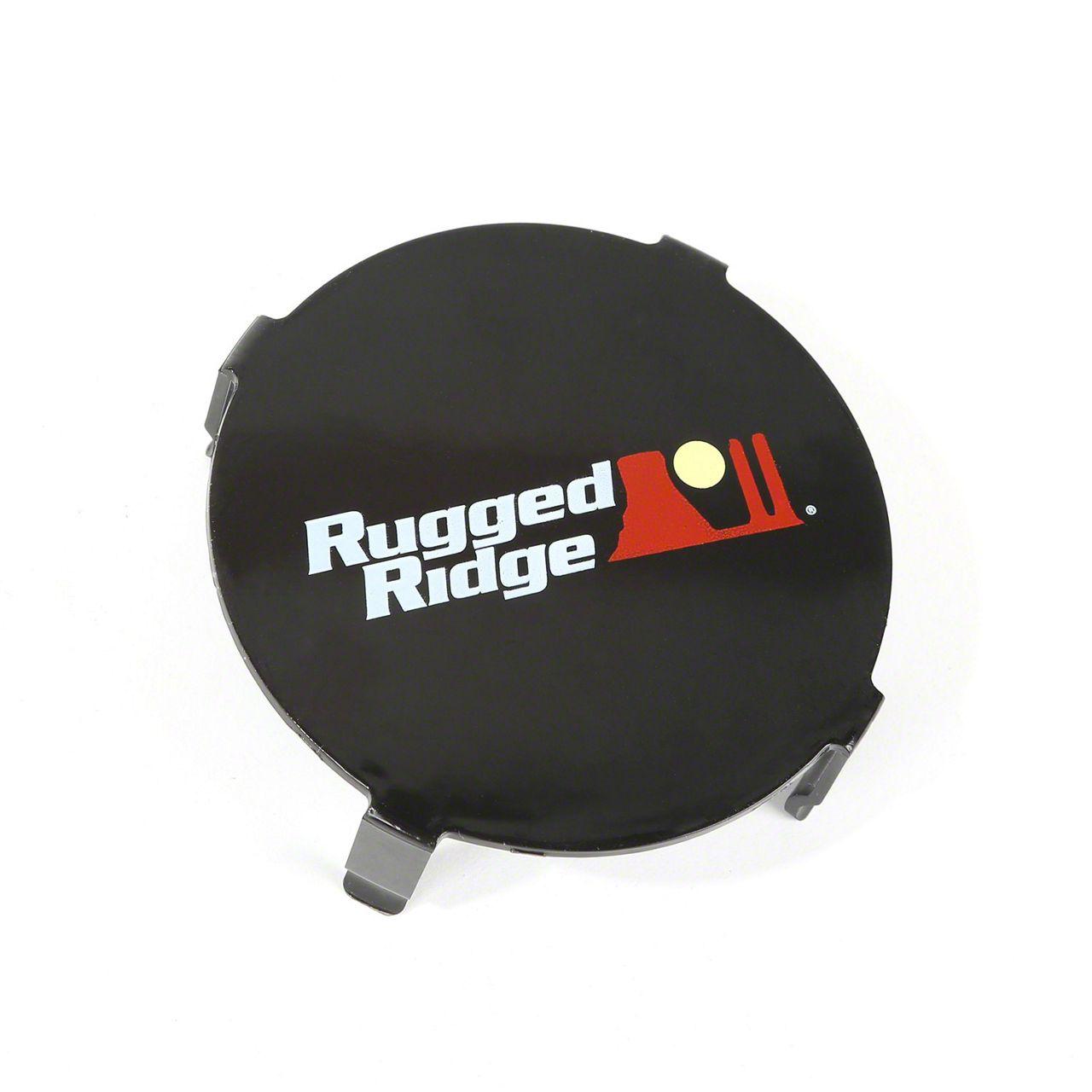 Rugged Ridge 3.5 in. LED Light Cover - Black
