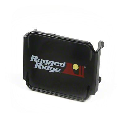 Rugged Ridge 3 in. Off-Road LED Light Cover - Black