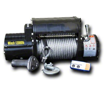 DV8 Off-Road 12,000 lb. Winch w/ Steel Cable & Wireless Remote