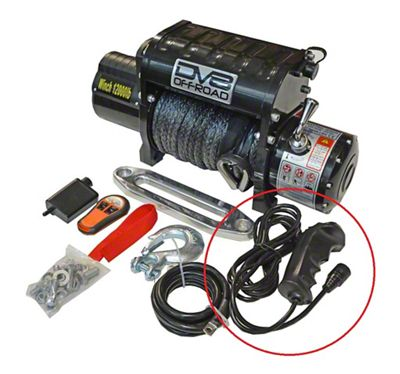 DV8 Off-Road 12.000 lb. Winch Replacement Wired Remote