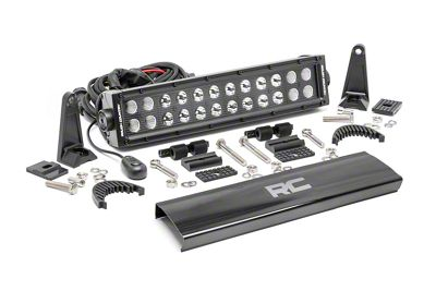 Rough Country 12 in. Black Series Dual Row LED Light Bar - Flood/Spot Combo