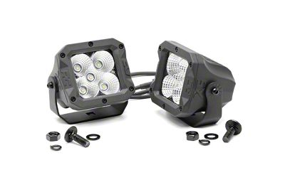 Rough Country 2 in. X5 Series LED Cube Lights - Flood Beam