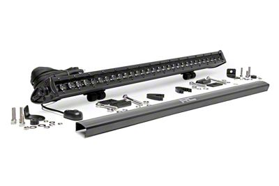Rough Country 30 in. Black Series Single Row LED Light Bar - Spot Beam