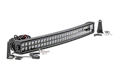 Rough Country 30 in. Chrome Series Curved Dual Row LED Light Bar - Flood/Spot Combo