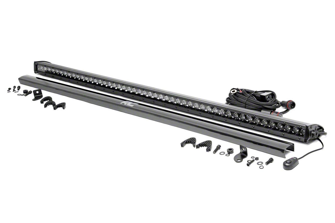 Rough Country 50 in. Black Series Single Row LED Light Bar - Spot Beam