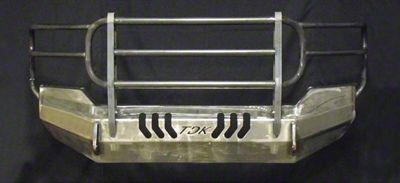 Throttle Down Kustoms Standard Front Bumper w/ Grille Guard - Bare Metal (12-15 Tacoma)