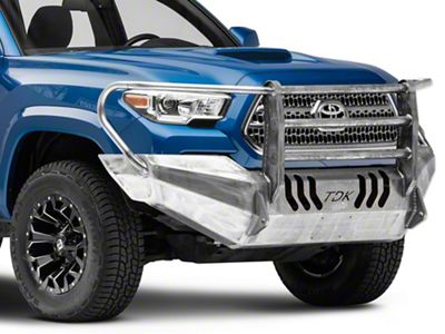 Throttle Down Kustoms Standard Front Bumper w/ Grille Guard - Bare Metal (16-19 Tacoma)