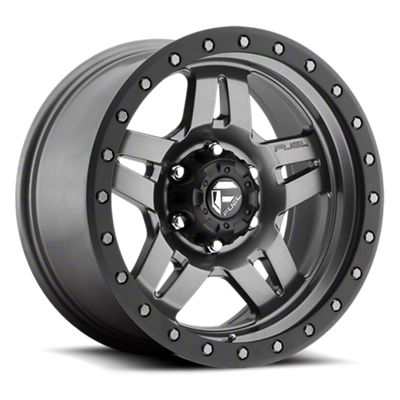 Fuel Wheels Anza Anthracite w/ Black Ring 6-Lug Wheel - 17x8.5 (05-19 Tacoma)