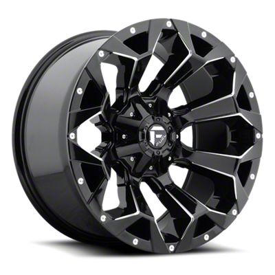 Fuel Wheels Assault Gloss Black Milled 6-Lug Wheel - 17x9 (05-19 Tacoma)