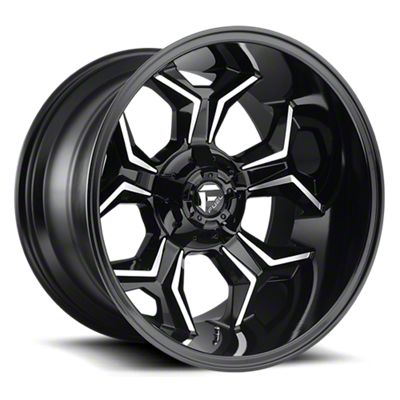 Fuel Wheels Avenger Gloss Black Machined 6-Lug Wheel - 20x10 (05-19 Tacoma)