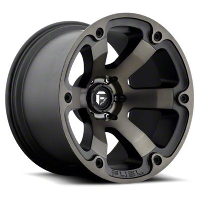 Fuel Wheels Beast Black Machined w/ Dark Tint 6-Lug Wheel - 18x9 (05-19 Tacoma)