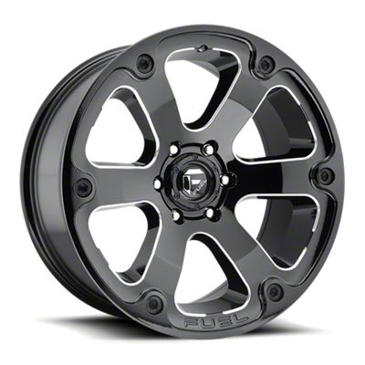 Fuel Wheels Beast Gloss Black Milled 6-Lug Wheel - 17x9 (05-19 Tacoma)