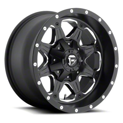 Fuel Wheels Boost Black Milled 6-Lug Wheel - 20x9 (05-19 Tacoma)
