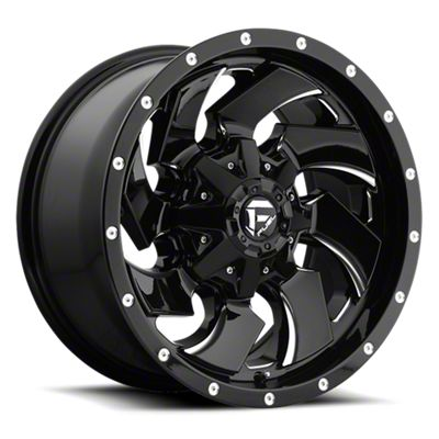 Fuel Wheels Cleaver Black Milled 6-Lug Wheel - 20x9 (05-19 Tacoma)