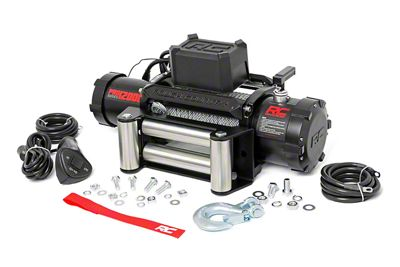 Rough Country PRO Series 12,000 lb. Winch w/ Steel Cable